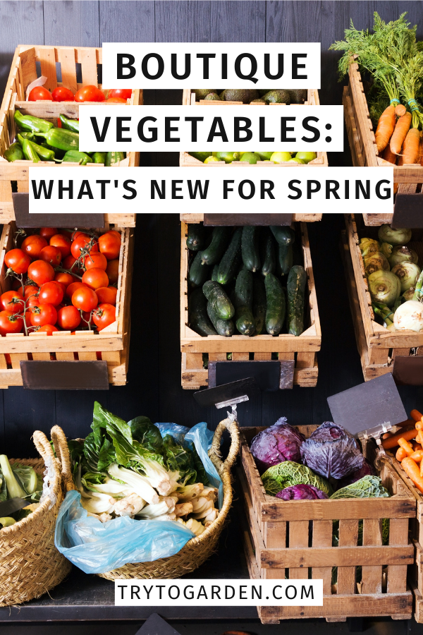 Boutique Vegetables: What's New For Spring
