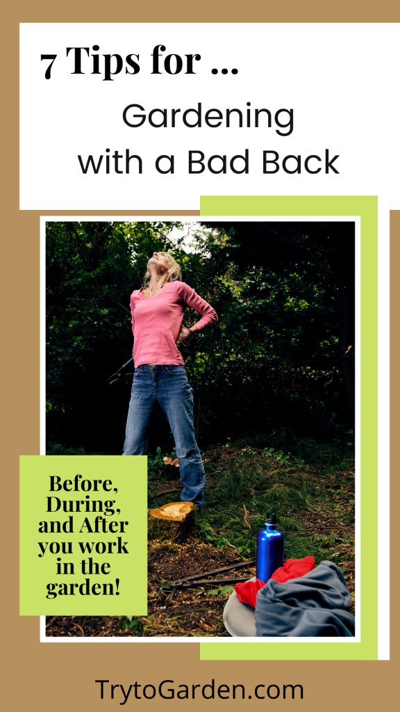 7 Tips for Gardening With a Bad Back